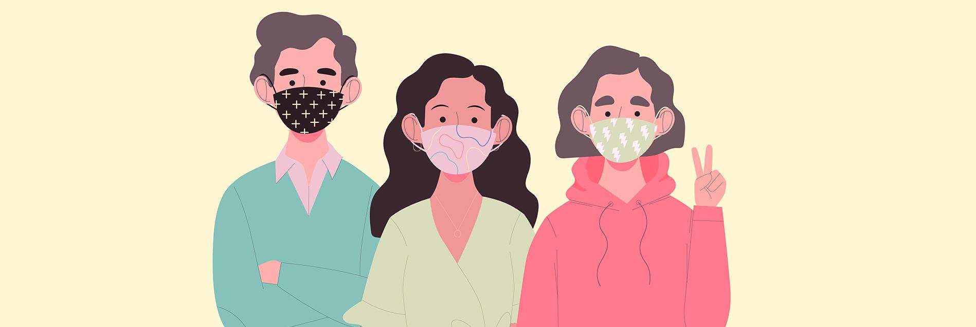 mask up for pollen allergy